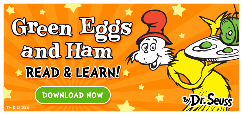 Introducing Green Eggs and Ham - Read and Learn Edition! Now available for iPad + iPhone